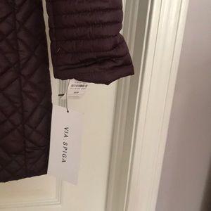 Via Spiga Jackets & Coats - Via Spiga Lightweight Puffer Coat Jacket Purple